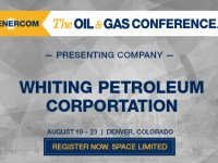 Whiting Petroleum to Present at EnerCom's The Oil & Gas Conference® August 19-23, 2018