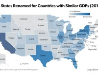 Size Matters: Map Replaces State Names with the Countries whose Economies are of Comparable Size