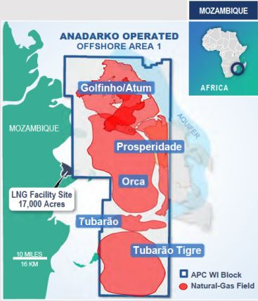 Anadarko's Mozambique LNG Sees FID in 1H2019