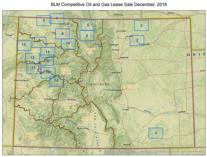 Bureau of Land Management is Offering 236,010 Acres of Federal Oil and Gas Land in Colorado