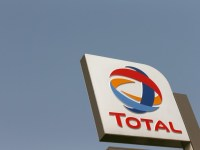 FILE PHOTO: The logo of Total oil company is pictured in Abuja, Nigeria October 18, 2017. REUTERS/Afolabi Sotunde/File Photo