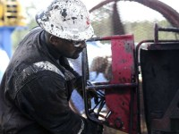 Drilling and natural fracking wells in the Haynesville shale in East Texas lead by Exxon Mobil's shale arm XTO Energy