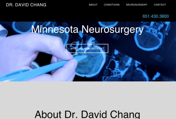 dr. david chang site design