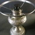 Juno oil lamp 2 size embossed nickel oil lamp antiques