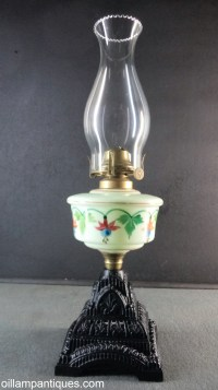 Antique Glass Oil Lamp