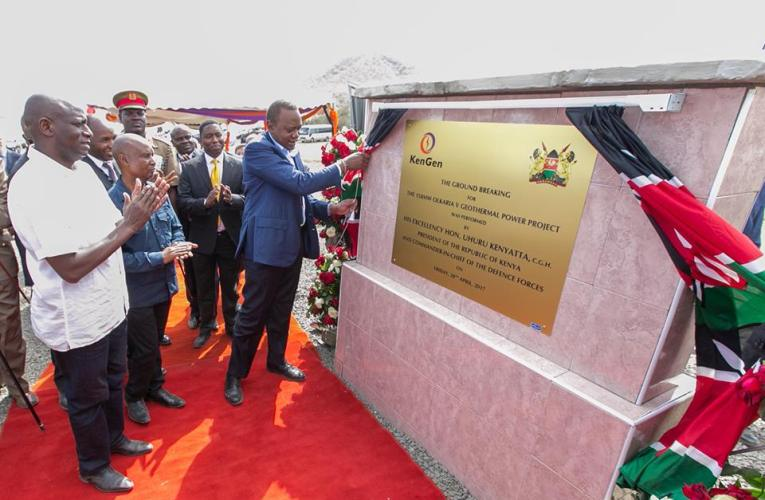 President Uhuru Kenyatta Breaks Ground For Olkaria V Power Project