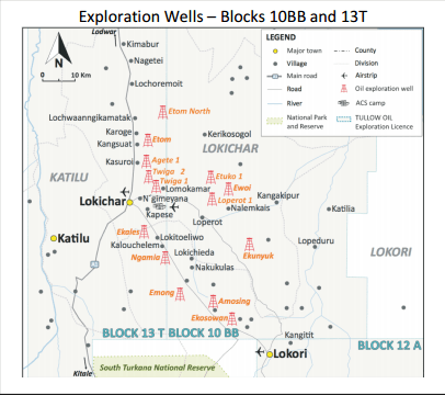 KENYA: Tullow Oil Receives Licence Extension for Blocks 10BB/13T