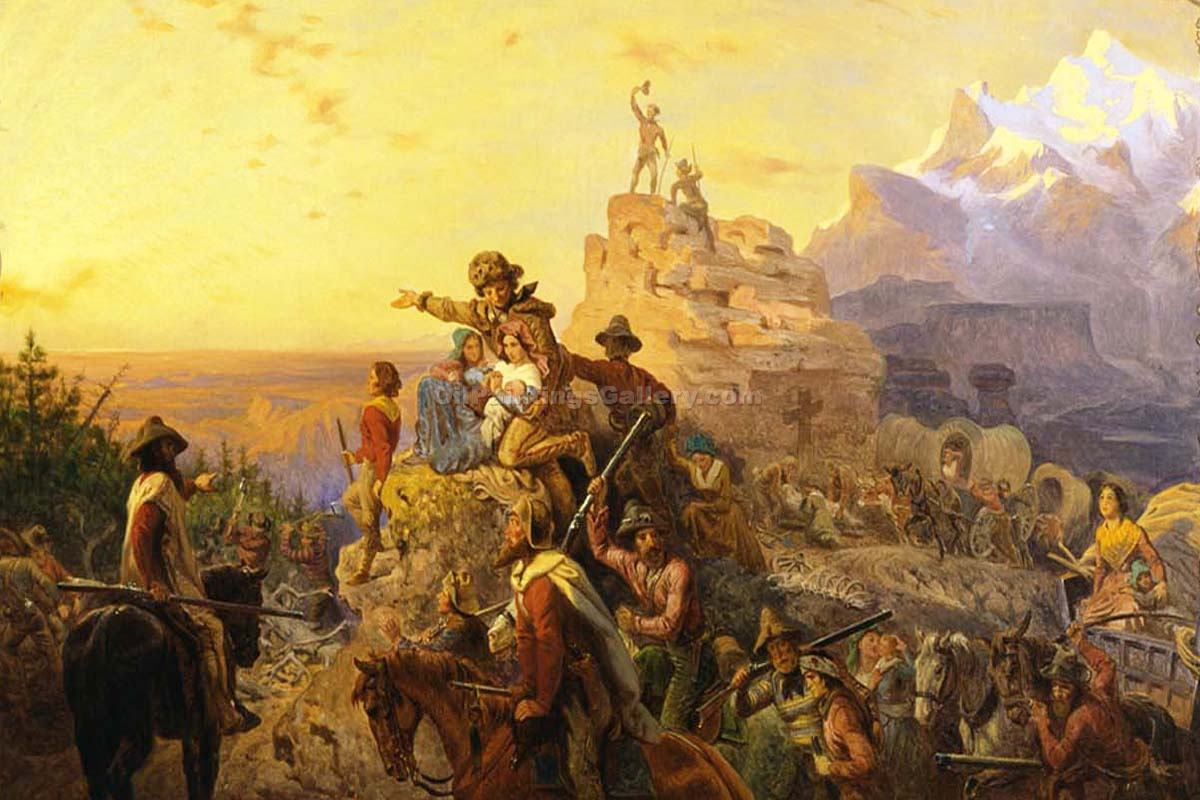 Westward The Course Of Empire Takes Its Way By Emanuel