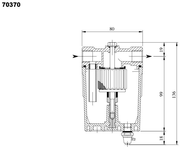 Giuliani Anello 70370 Water Trap Filter, 3/8