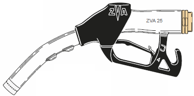 ZVA 25, Automatic High-Flow Fuel Dispensing Nozzle (140