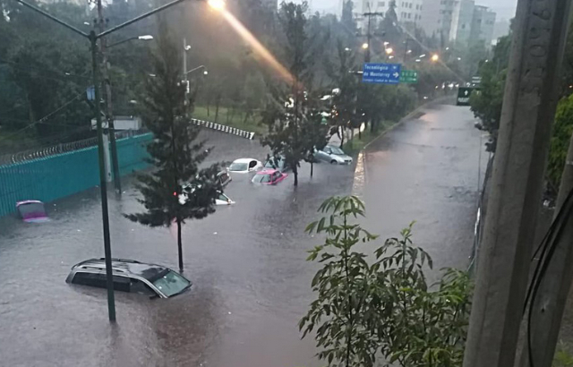 Inundación de coches
