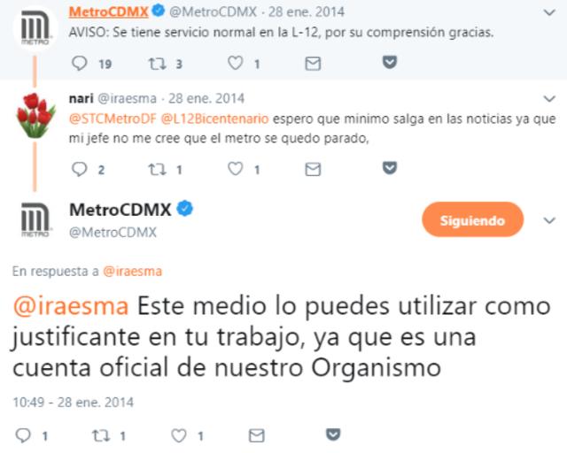 Twitter del Metro