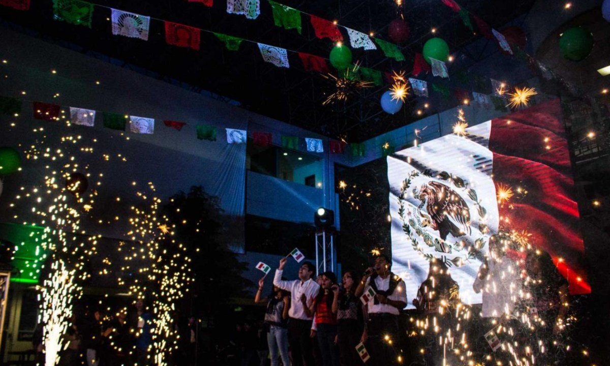 Celebración de fiestas patrias de México