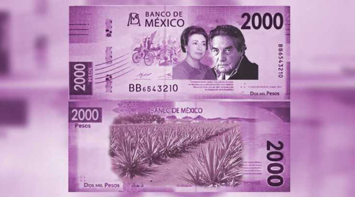 Nuevo billete de 2000 pesos