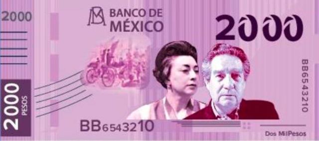 Posible nuevo billete de 2000 pesos