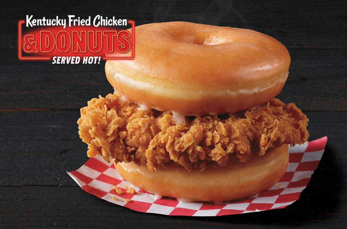 Sándwich de pollo y donas de KFC