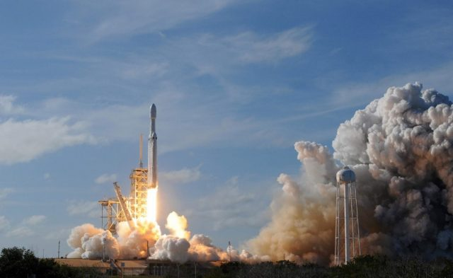 Imagen: Despegue de un cohete hacia el espacio, 17 de octubre de 2019 (Imagen: Especial)