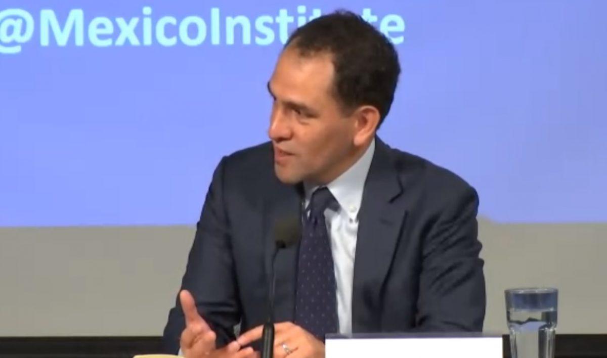 Imagen: Arturo Herrera, secretario de Hacienda en un acto celebrado en el Wilson Center de Washington, Estados Unidos, 15 de octubre de 2019 (Wilsoncenter.org)