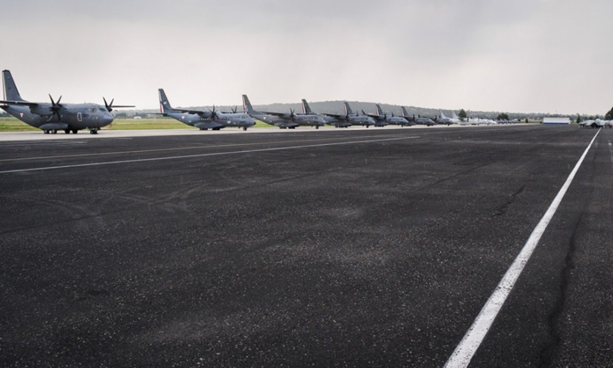 Imagen: Pista de la Base Aérea de Santa Lucía, 16 de octubre de 2019, Ciudad de México, México (Imagen: Especial)