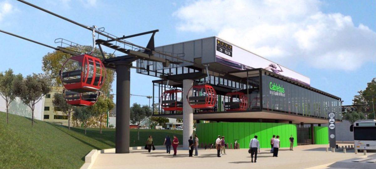 Imagen: Proyecto Cablebús de la Línea 1 en CDMX, 7 de noviembre de 2019 (Imagen: Especial)