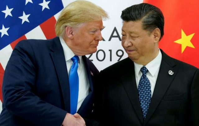 Imagen: El presidente de Estados Unidos con su homólogo de China, Xi Jinping, 1 de noviembre de 2019 (Imagen: Especial)