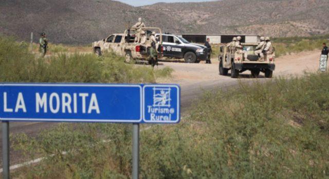 Imagen: Militares en las inmediaciones de La Morita, 8 de noviembre de 2019 (Imagen: Especial)