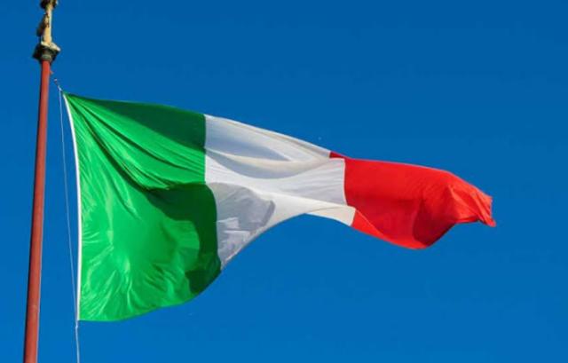 23, diciembre, 2019, Bandera, Italia
