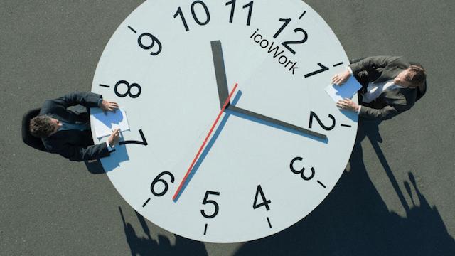2, diciembre, 2019, horario, laboral, mesa, reloj