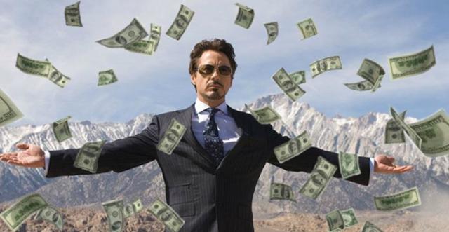 10 de diciembre 2019, personas millonarias, dinero, billetes, dólares, Iron Man