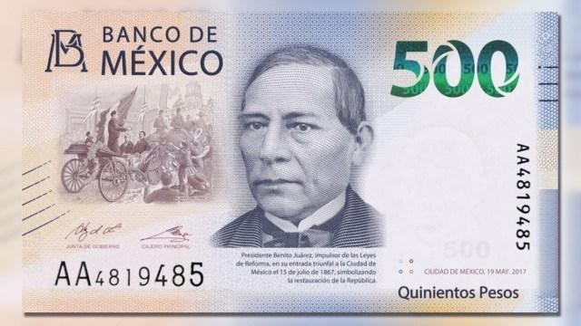 24 de enero 2020, Billete de 500 pesos, Billete, Dinero, Billetes, Benito Juárez, 500 pesos