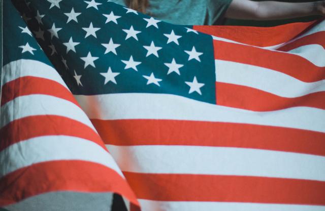 07 de enero 2020, Visa Americana, Bandera, Bandera de Estados Unidos, Estados Unidos