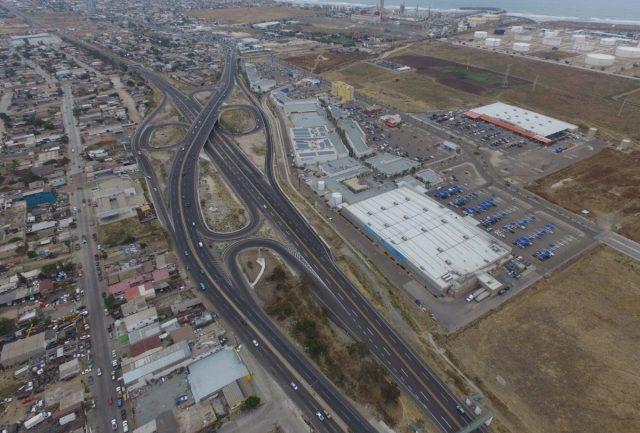 5 de febrero de 2020, autopista, peaje, vista área de una autopista en México Imagen: Twitter @gruizesp