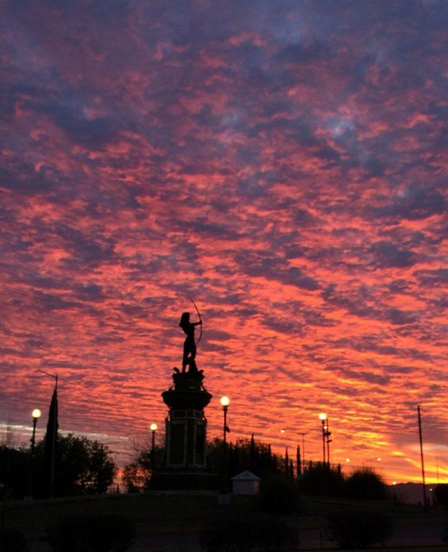 28 de febrero de 2020, calles de Chihuahua (Imagen: Twitter: @meganferratti)