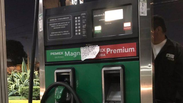21 de febrero de 2020, gasolina premium (Imagen: Twitter@tatemala)