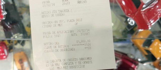 19 de febrero de 2020, retiro dinero (Imagen: Twitter @chucastellanos)