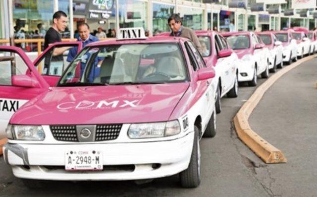 17 de febrero de 2020, taxistas de la Ciudad de México (Imagen: Twitter @EddyWarman)