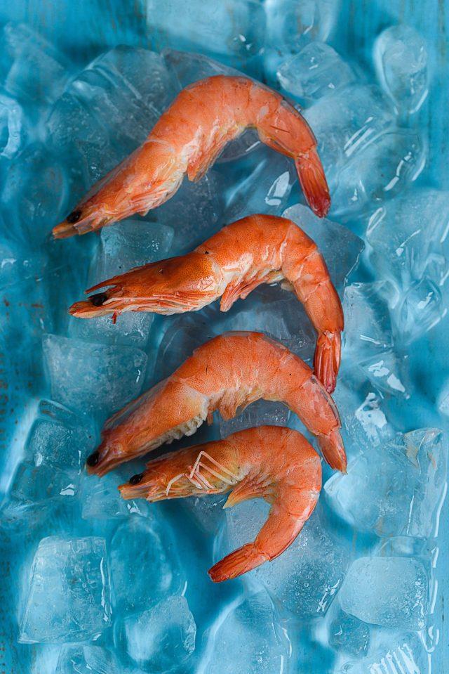 3 de marzo de 2020, camarón con hielo (Imagen: Unsplash)