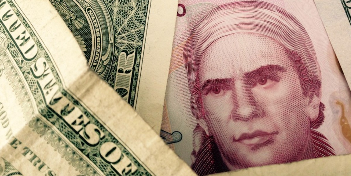 11 de marzo de 2020, dólar y peso mexicano (Imagen: Twitter: @galvanochoa)