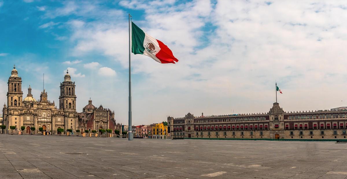 La capital de México y la bandera nacional (Imagen: Bank of America)