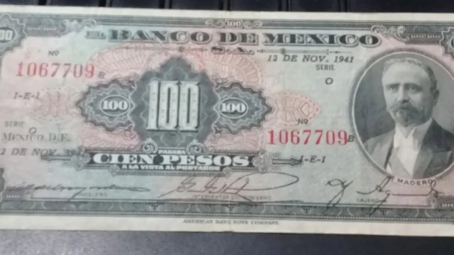 Billete de 100 Pesos, Billetes, Billetes de México, Dinero, 100 pesos