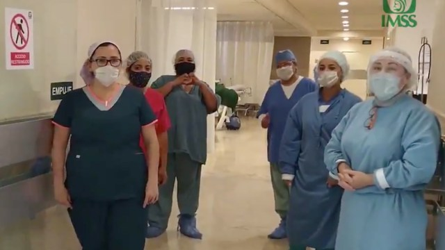 Trabajadores de la salud recibirán bono covid (Imagen: Twitter @Tu_IMSS)