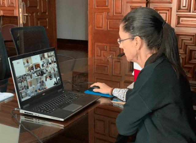 Video conferencia de la jefa de Gobierno de la CDMX, Claudia Sheinbaum (Imagen: Twitter @Claudiashein)