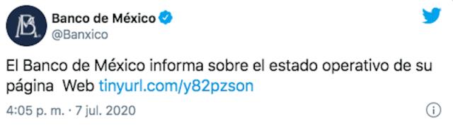 Hackeo a Banxico (Imagen: Twitter @Banxico)