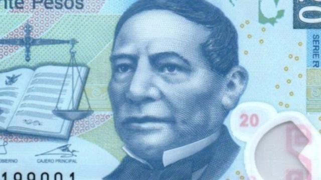 Billete de 20 pesos Benito Júarez (Imagen: Twitter @gymbooroso)