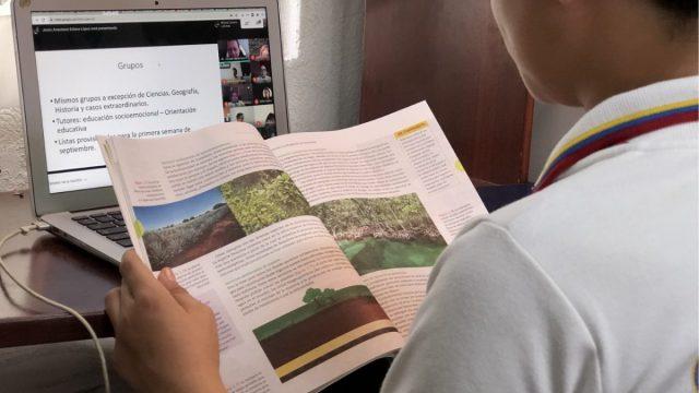Regreso a clases virtuales en México (Imagen: IMSS)