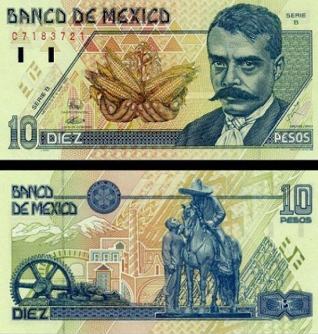 Billete de Emiliano Zapata (Imagen: Twiter @MonedasColombia)