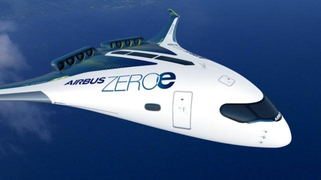 Airbus presenta diseños de aviones impulsados por hidrógeno (Imagen: Airbus)