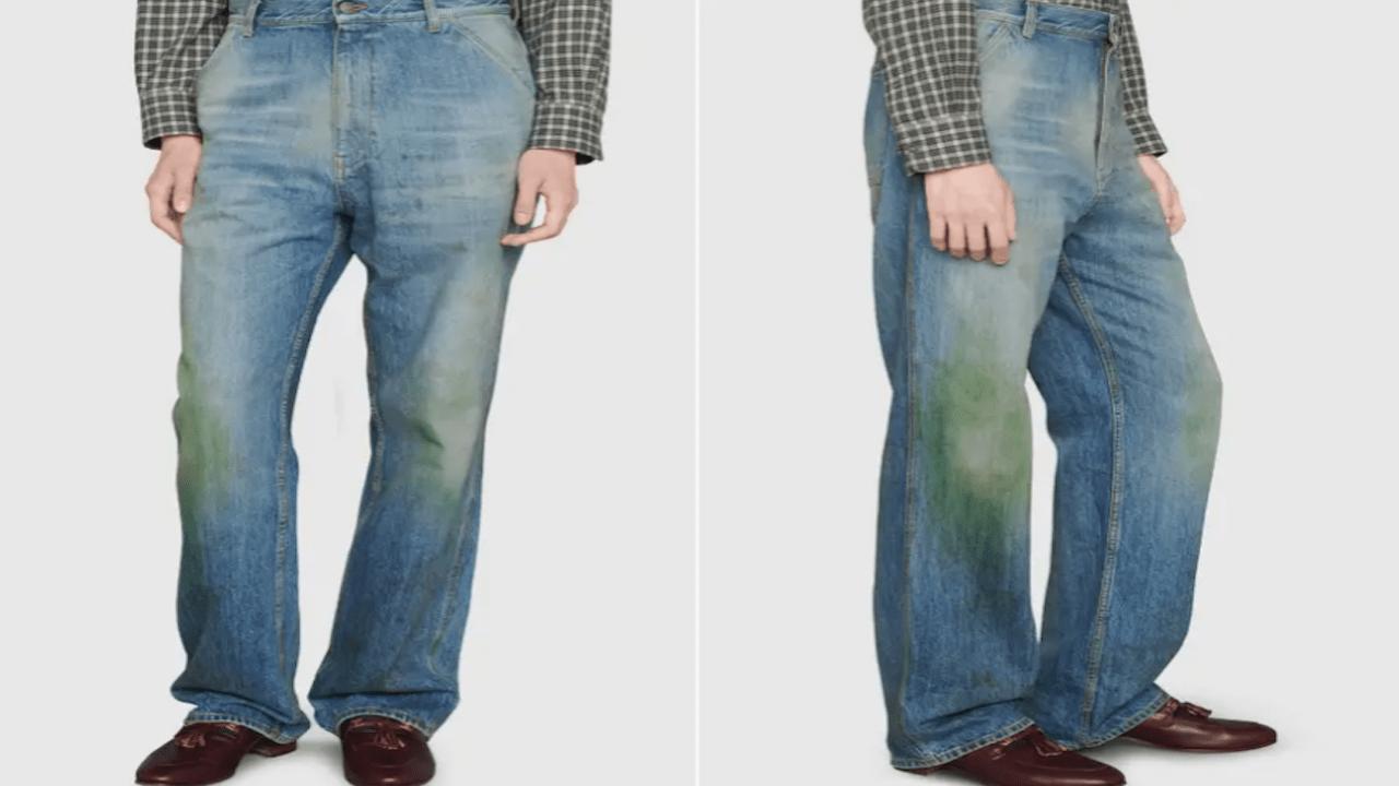 Gucci vende jeans con manchas en las rodillas (Imagen: Gucci)
