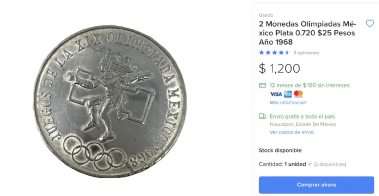 Moneda Juegos Olimpicos del 68