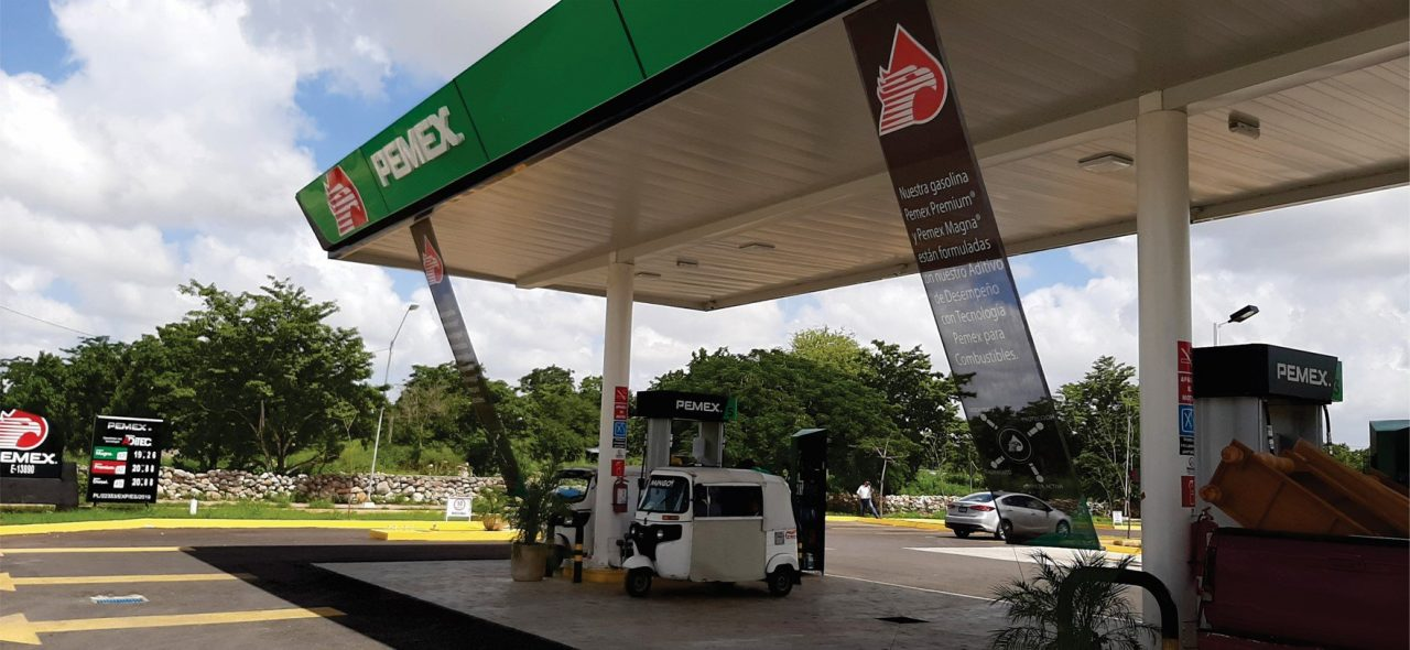 gasolinerías, litros completos